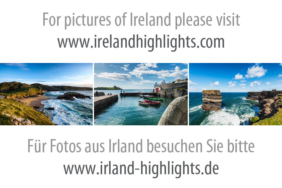 View on Geokaun Mountain and Fogher Cliffs from St. Brendan's Well